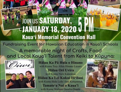 January 2020 ARTS & CULTURE CALENDAR ON KAUAI